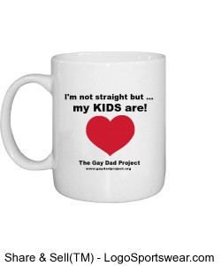 I'm not straight by my kids are coffee mug. Design Zoom